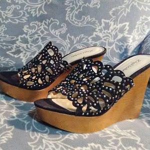 Zigi Soho Brown Wedge Heels Loraine 9